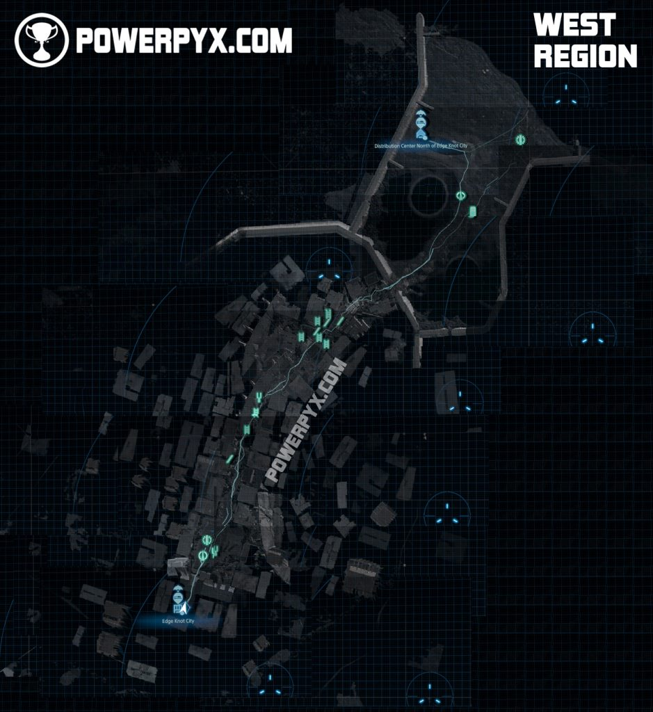 Stranding Death - maps of all regions
