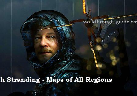 Death Stranding – maps of all regions