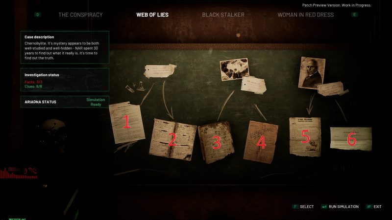 How to Complete the Web of Lies Investigation in Chernobylite